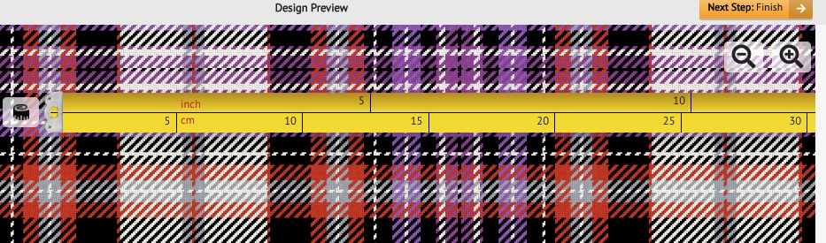 Previewing tartan designs